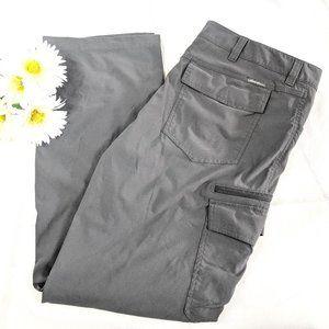 Eddie Bauer Gray Flat Front Flap Pocket Pants